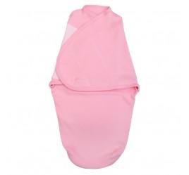 Пеленка кокон на липучке, цвет розовый