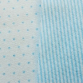 Комбинезон-ползунки на молнии, молочный в голубой горох