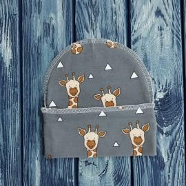 Набор из двух конвертов с шапочками, жирафы