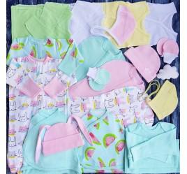 Комплект из 18 предметов для новорожденного №15 (пеленки-коконы, распашонки, чепчики и пр.)