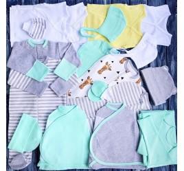 Комплект для новорожденного №12 (пеленки-коконы, распашонки, чепчики и пр.)