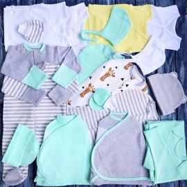 Комплект из 18 предметов для новорожденного №12 (пеленки-коконы, распашонки, чепчики и пр.)