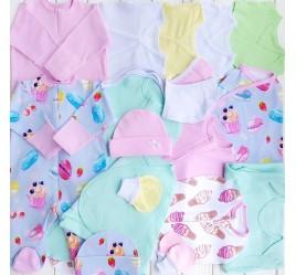 Комплект для новорожденного №9 (пеленки-коконы, распашонки, чепчики и пр.)