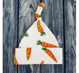 Шапочка морковки с узелком