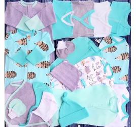 Комплект для новорожденного №2 (пеленки-коконы, распашонки, чепчики и пр.)