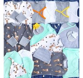 Комплект для новорожденного №4 (пеленки-коконы, распашонки, чепчики и пр.)
