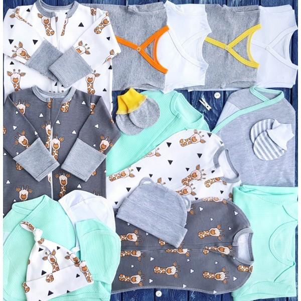 Комплект из 18 предметов для новорожденного №4 (пеленки-коконы, распашонки, чепчики и пр.)