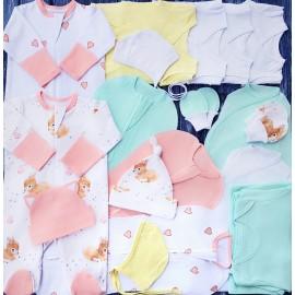 Комплект из 18 предметов для новорожденного №7 (пеленки-коконы, распашонки, чепчики и пр.)