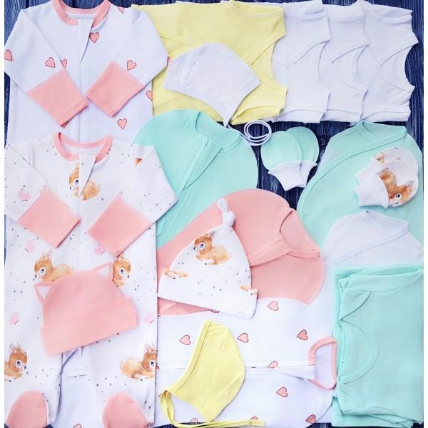 Комплект для новорожденного №7 (пеленки-коконы, распашонки, чепчики и пр.)