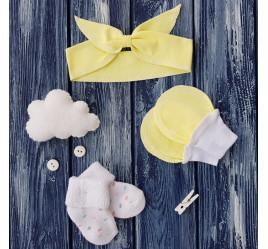 Повязка на голову-Солоха, носки и антицарапки, светло-желтый