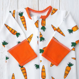 Набор из двух конвертов с шапочками и комбинезона, морковки и полоска
