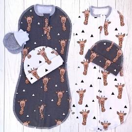 Набор из двух конвертов с шапочками: жирафы