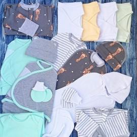 Комплект из 18 предметов  для новорожденного №5 (пеленки-коконы, распашонки, чепчики и пр.)