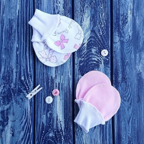 Антицарапки, 2 шт., бантики и розовый