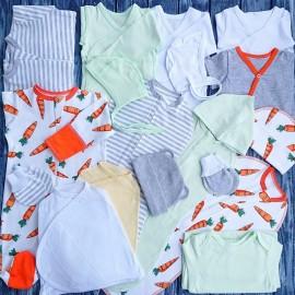 Комплект для новорожденного №6 (пеленки-коконы, распашонки, чепчики и пр.)