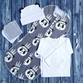 Промо-набор из конверта, шапочки, распашонки и платочков