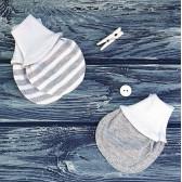 Антицарапки, 2 шт., серый и полосатый меланж