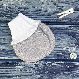 Набор из двух конвертов с шапочками, полосатый меланж и белый
