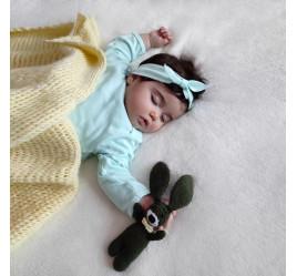 Рубашка для сна с рукавичками и повязка-Солоха, мята