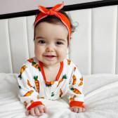 Набор из комбинезона и повязки на голову, морковки на молочном фоне