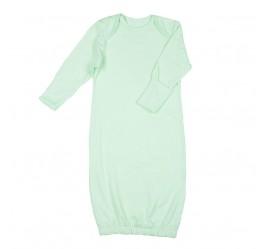 Рубашка для сна с рукавичками, салатовая
