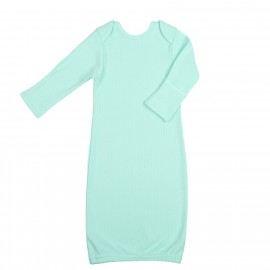 Рубашка для сна с рукавичками, мятная